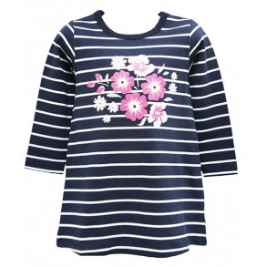 Flower Stripes Augmented Reality Wear 4D Tshirt for girls