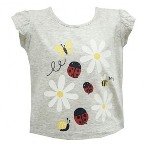 Enchanted Garden Augmented Reality Wear 4D Tshirt for girls (grey)