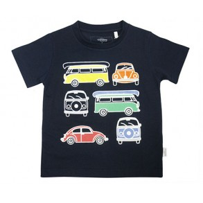 Vintage Bus Augmented Reality Wear 4D Tshirt for boys (NAVY)